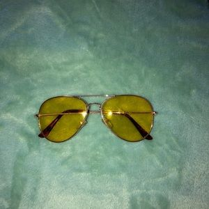 Yellow lens sunglasses